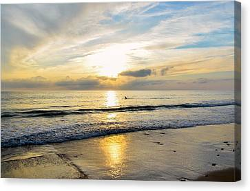 Canvas Print featuring the photograph Surf In Light by Thierry Bouriat
