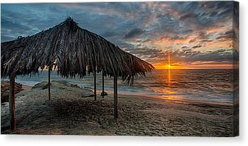 Surf Shack At Sunset - Wide Format Canvas Print by Peter Tellone