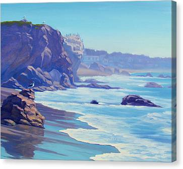 Surf Watchers Canvas Print by Elena Roche
