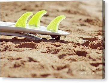 Surfboard Fins Canvas Print by Carlos Caetano