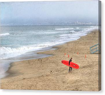Surfer Boy Canvas Print by Juli Scalzi
