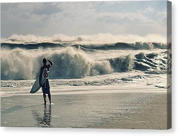 Surfer Watch Canvas Print by Laura Fasulo