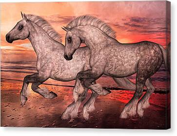 Surfsiders  Canvas Print by Betsy Knapp