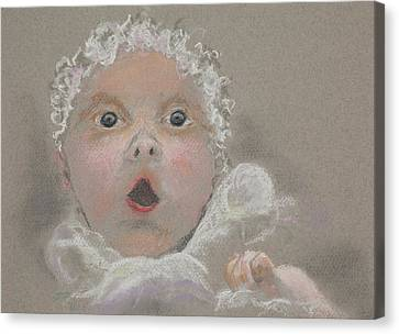 Surprised Baby Canvas Print by Jocelyn Paine