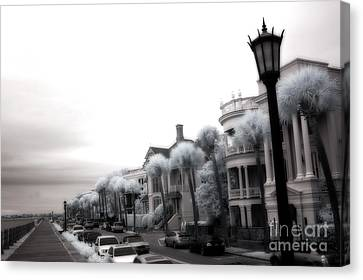 Surreal Charleston South Carolina Battery Park Canvas Print by Kathy Fornal