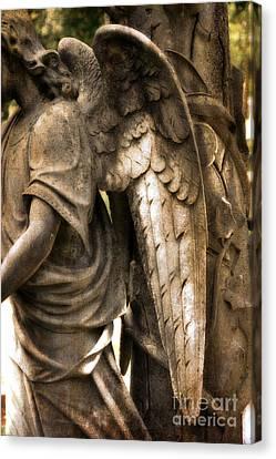 Surreal Dreamy Angel Art Wings - Guardian Angel Art Wings Canvas Print by Kathy Fornal