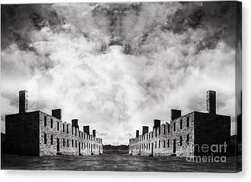 Surreal Landscape Crown Point Canvas Print by Edward Fielding