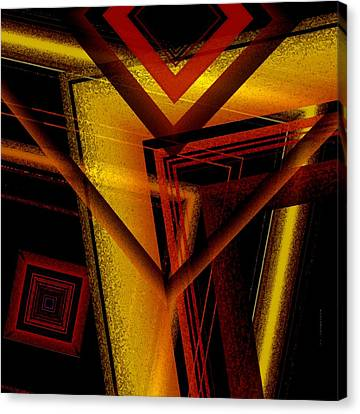 Surrealist Geometry With Brightness And Shadows Canvas Print by Mario Perez