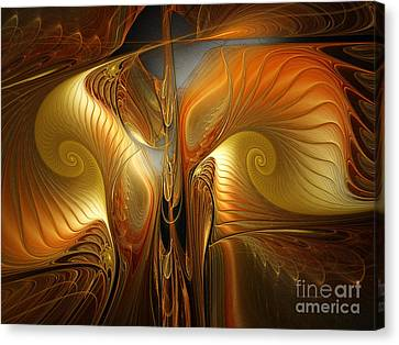 Surrealistic Landscape-fractal Design Canvas Print by Karin Kuhlmann