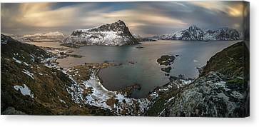 Surroundings Of Offersoykamen Canvas Print by Panoramic Images
