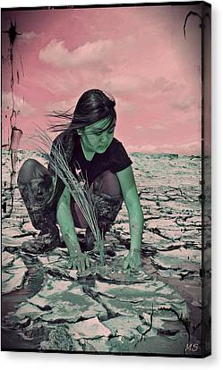 Surviving The Fallout Canvas Print by Absinthe Art By Michelle LeAnn Scott