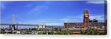 Suspension Bridge, Ben Franklin Bridge Canvas Print by Panoramic Images