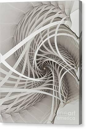 Suspension Bridge-fractal Art Canvas Print by Karin Kuhlmann