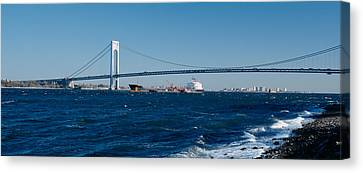 Suspension Bridge Over A Bay Canvas Print by Panoramic Images