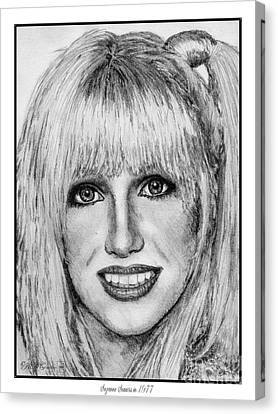 Suzanne Somers In 1977 Canvas Print by J McCombie