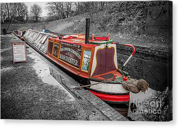 Swallow Canal Boat Canvas Print by Adrian Evans
