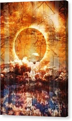 Swamp Moon Canvas Print by PainterArtist FIN