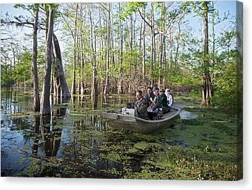 Swamp Tour Canvas Print by Jim West
