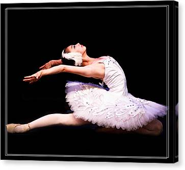 Swan Lake Ballet Dancer Canvas Print by Jiayin Ma