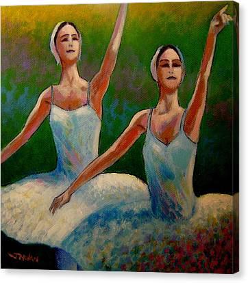 Swan Lake II Canvas Print by John  Nolan
