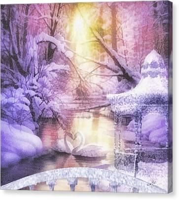 Swan Lake Canvas Print by Mo T