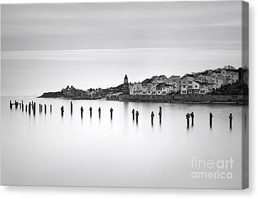 Swanage Old Pier And Peveril Point Canvas Print by Richard Thomas