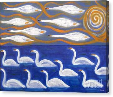 Swans Canvas Print by Patrick J Murphy