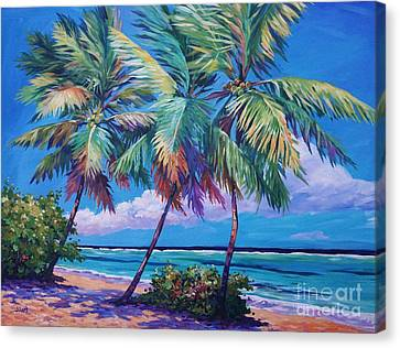 Swaying Palms  Canvas Print by John Clark