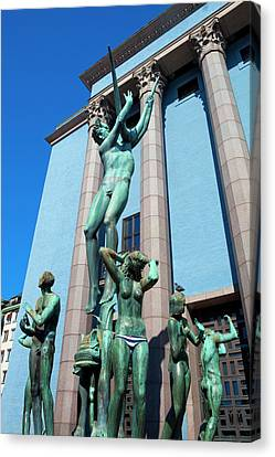 Sweden, Stockholm - The Concert Hall Canvas Print by Panoramic Images