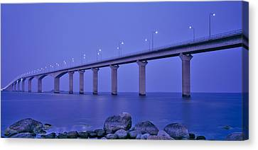 Sweden, The Bridge To The Island Canvas Print by Panoramic Images