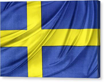 Swedish Flag Canvas Print by Les Cunliffe