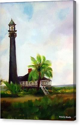 Sweet Charlie Lighthouse Canvas Print by Betty Pimm