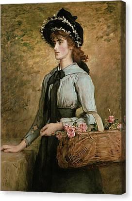Sweet Emma Morland Canvas Print by Sir John Everett Millais