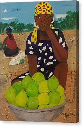 Sweet Oranges Canvas Print by Nicole Jean-Louis
