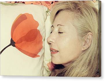 Sweet Poppy Dreams Canvas Print by Laurie Search