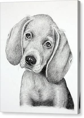 Sweet Puppy Love Canvas Print by Lorraine Foster