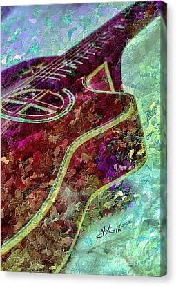 Sweet Sounds 3 Digital Guitar Art By Steven Langston Canvas Print by Steven Lebron Langston