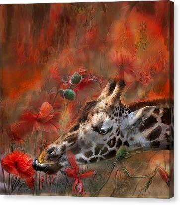 Sweet Taste Of Spring Canvas Print by Carol Cavalaris