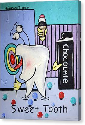 Sweet Tooth Canvas Print by Anthony Falbo
