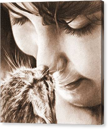 Sweet Touch Canvas Print by Natasha Denger