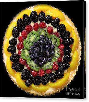 Sweet Treats - Fruit Cake - 5d20920 - Square Canvas Print by Wingsdomain Art and Photography