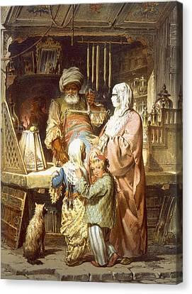Sweetseller, 1865 Canvas Print by Amadeo Preziosi