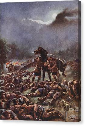 Sweyns Poisoned Army, Illustration Canvas Print by Henry A. Payne