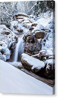 Swiftwater Falls Winter Canvas Print by Jeff Sinon