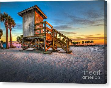 Swim At Your Own Risk Canvas Print by Marvin Spates
