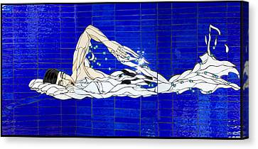 Swimmer Canvas Print by Kimber Thompson