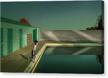Swimming Pool Canvas Print by Fang Tong