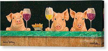 Swine Tasting... Canvas Print by Will Bullas