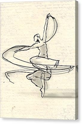 Swirl Canvas Print by H James Hoff