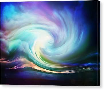 Swirl Of Sky Canvas Print by Lilia D